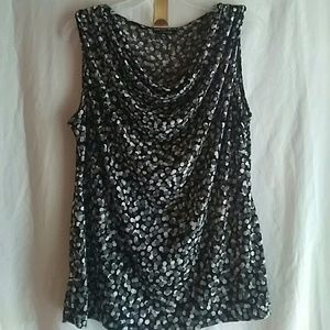 George black white and gray sleeveless blouse top.